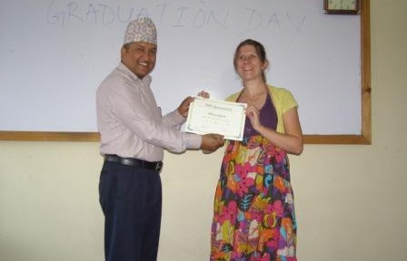 Receiving TEFL Certificate