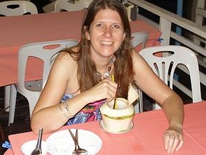 Yummy coconut shake at Han Hui
