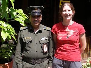 Saying Goodbye to My Nepali Teacher at Hotel Mandap