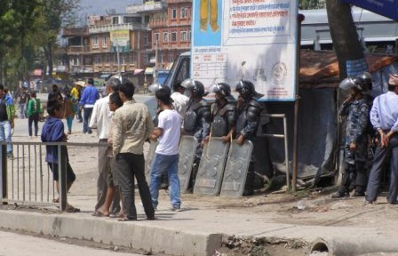 Riot Police at Bandh