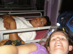 My bunk on the car ferry to Ko Tao