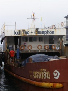 Car Ferry from Chumphon to Ko Tao