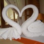 Swan towels at Ban's Diving Resort