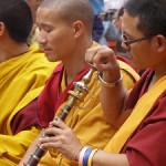 Monks at Stupa, Namo Buddha