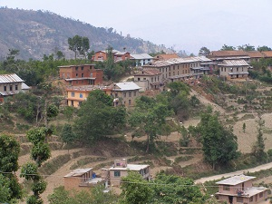 Village on route to Namo Buddha