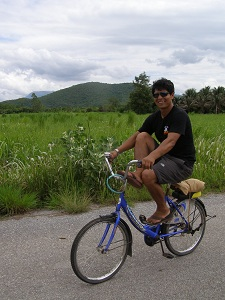 Cycling Between Two of the Sukhothai Sites
