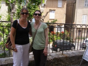My friend and I in Mougins