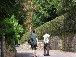 Walking at Mougins