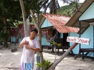 Beach Shower on Bottle Beach, Koh Pha Ngan