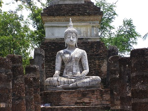 One of the many Buddha's at Sukhothai