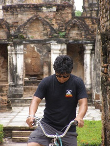 Cycling Amongst the Ruins at Sukhothai