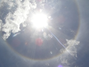 A Circular Rainbow Around the Sun