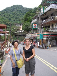 In Wulai with a lovely lady I met on the bus