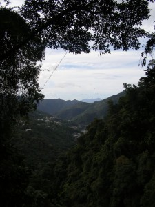 Viewing Wulai from the top of the mountain