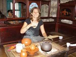 Enjoying an afternoon cuppa at Jioufen Tea House