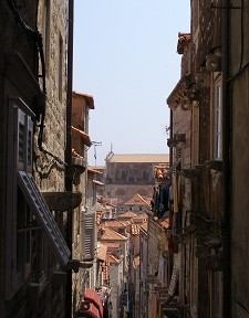 In the streets of the old city of Dubrovnik