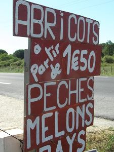 A Fruit Sign in France