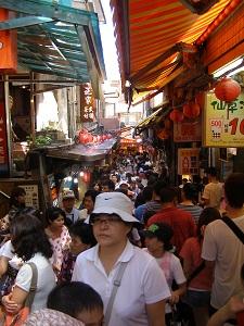Crowded Jishan Street