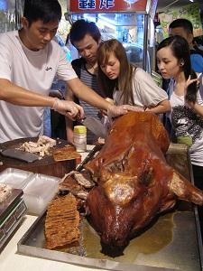 Roast Pig at Raohe St Night Market