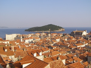 View of the rooftops from Dubrovnik's old city wall