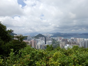 View of Hong Kong sky scrapers from the Dragon's Back
