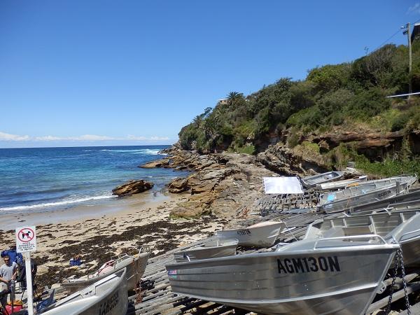 Fishing Boats at Gordon's Bay - Bondi to Coogee Walk