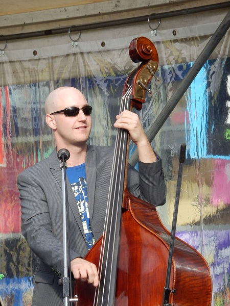 Man Playing Cello at Manly Jazz Festival
