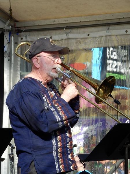 Trombone player at the Manly Jazz Festival