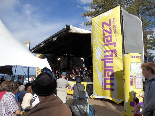 Ocean Front Stage at Manly Jazz Festival