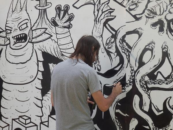 Graffiti Artist at Newtown Festival