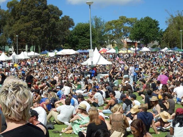 Crowds at the Newtown Festival