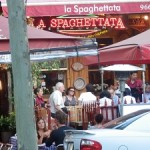 Alfresco dining on Lygon St