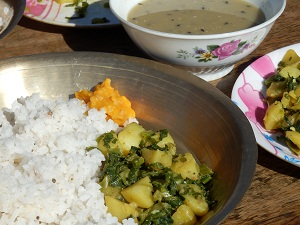 Daal Bhaat - typical Nepali dish
