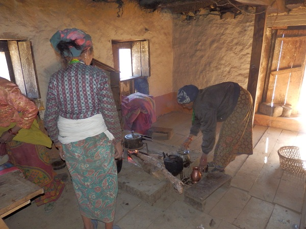 A typical Nepali kitchen