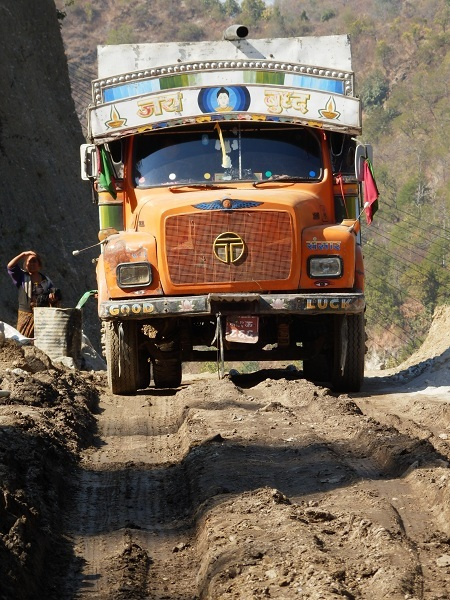 A colourful Nepali lorry