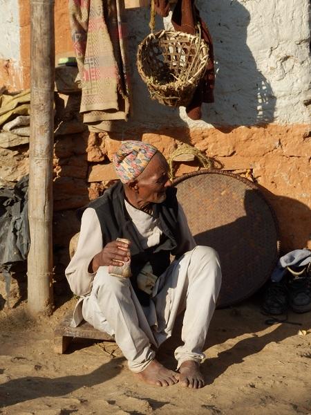 Nepali Man Sitting