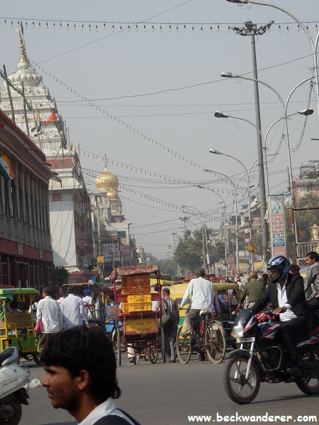 A typical street in Delhi