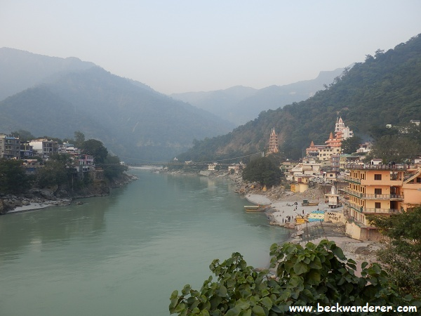 Scenic view of Rishikesh on the Ganges