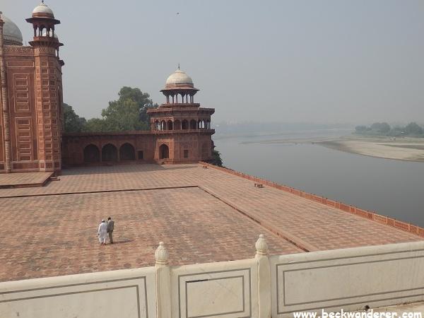Yamuna River from the Taj Mahal