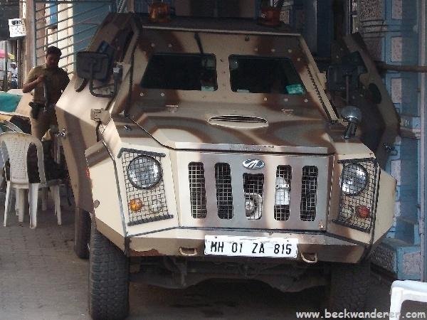 Police Car in Mumbai