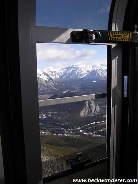 View of the Rockies from the Banff gondola