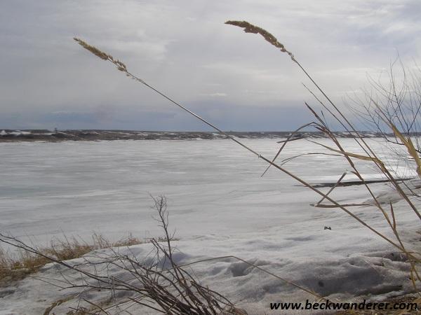 Frozen Lake Diefenbaker