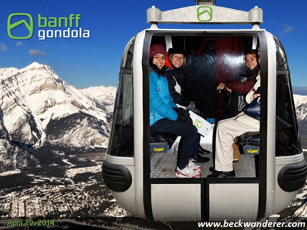 Tacky photo of me in the Banff Gondola