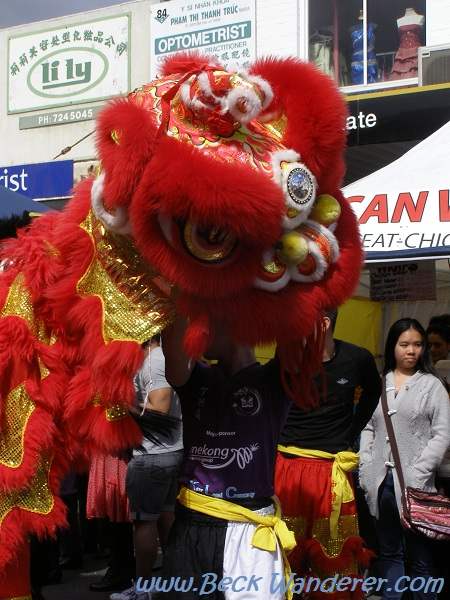 Chinese dragon at the Cabramatta moon festival