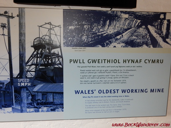 Big Pit Info Sign in English and Welsh