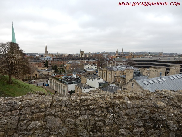 View across Oxford city from St Georges Tower
