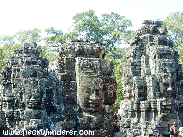 Bayon Heads at Angkor, Cambodia