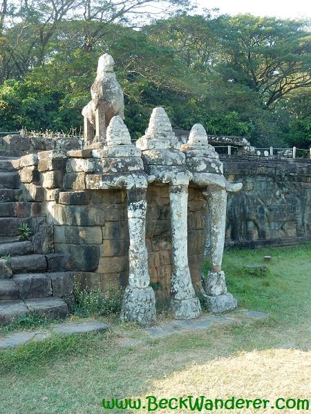 The elephant terrace at Angkor, Cambodia