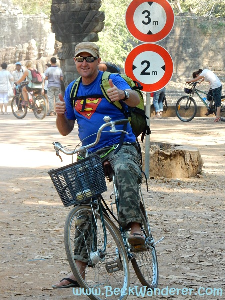 Ian cycling around Angkor