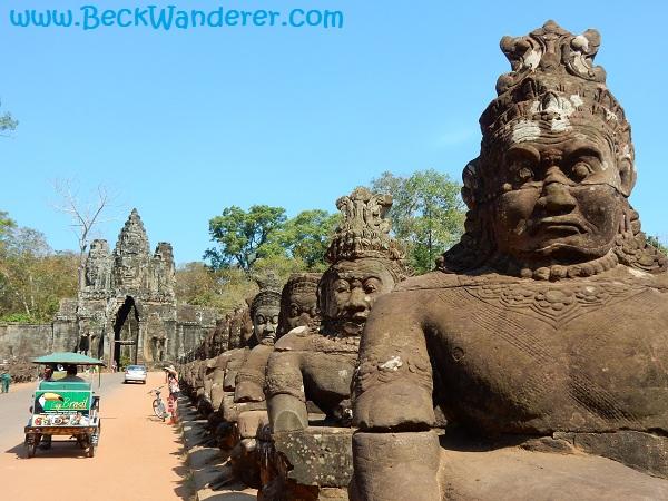 Thom Bridge statues at Angkor, Cambodia